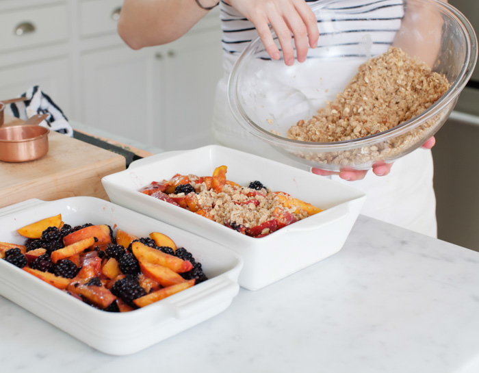 Summer Peach Blackberry Crumble - The Yellow TableThe Yellow Table